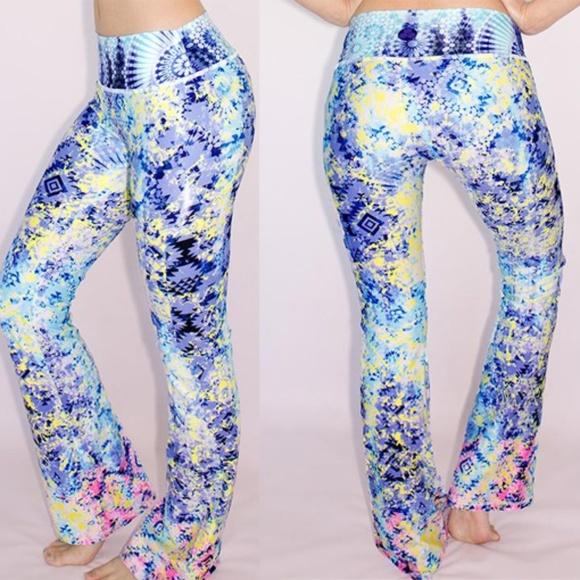 18ef44d17e Luna Jai Pants | Womens Flared Yoga Kaleidoscopic | Poshmark
